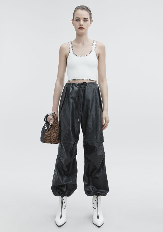 T by ALEXANDER WANG FAUX LEATHER PANT PANTALONI Adult 12_n_f