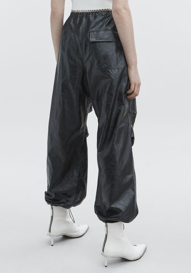 T by ALEXANDER WANG FAUX LEATHER PANT PANTALONI Adult 12_n_r