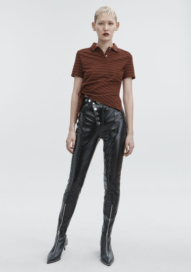 ALEXANDER WANG classic-bottoms PATENT HIGH WAISTED LEGGINGS