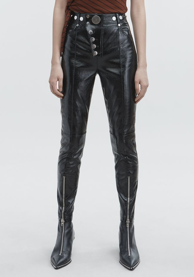 ALEXANDER WANG PATENT HIGH WAISTED LEGGINGS PANTS Adult 12_n_a