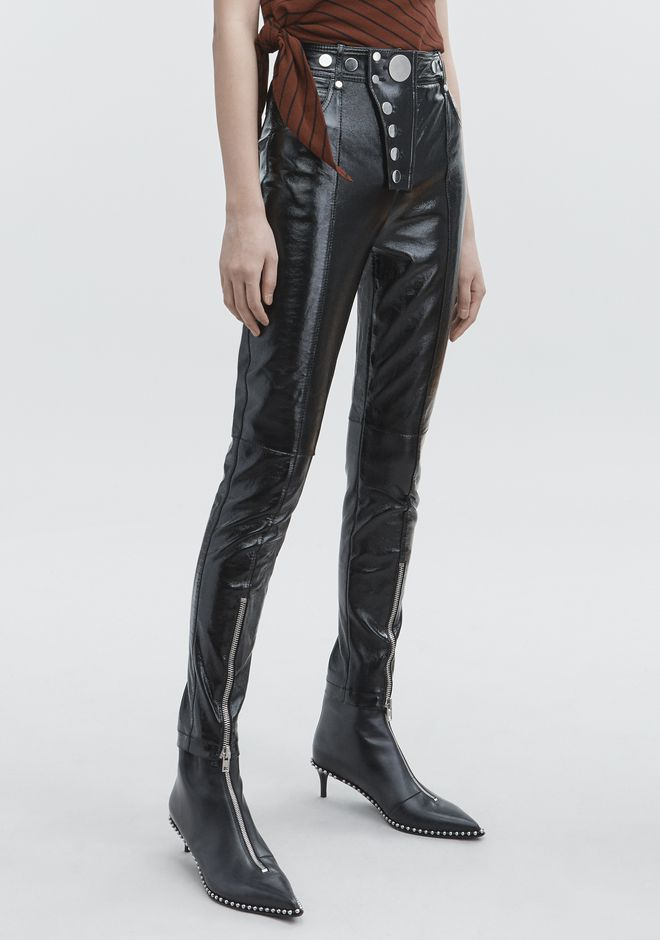 ALEXANDER WANG PATENT HIGH WAISTED LEGGINGS PANTS Adult 12_n_e