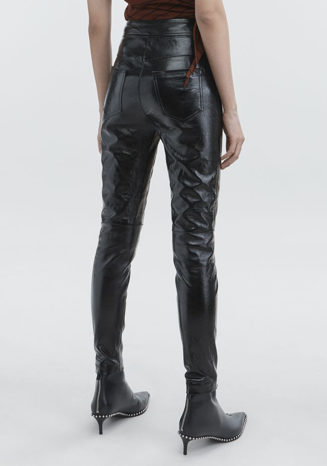 ALEXANDER WANG PATENT HIGH WAISTED LEGGINGS PANTS Adult 12_n_r