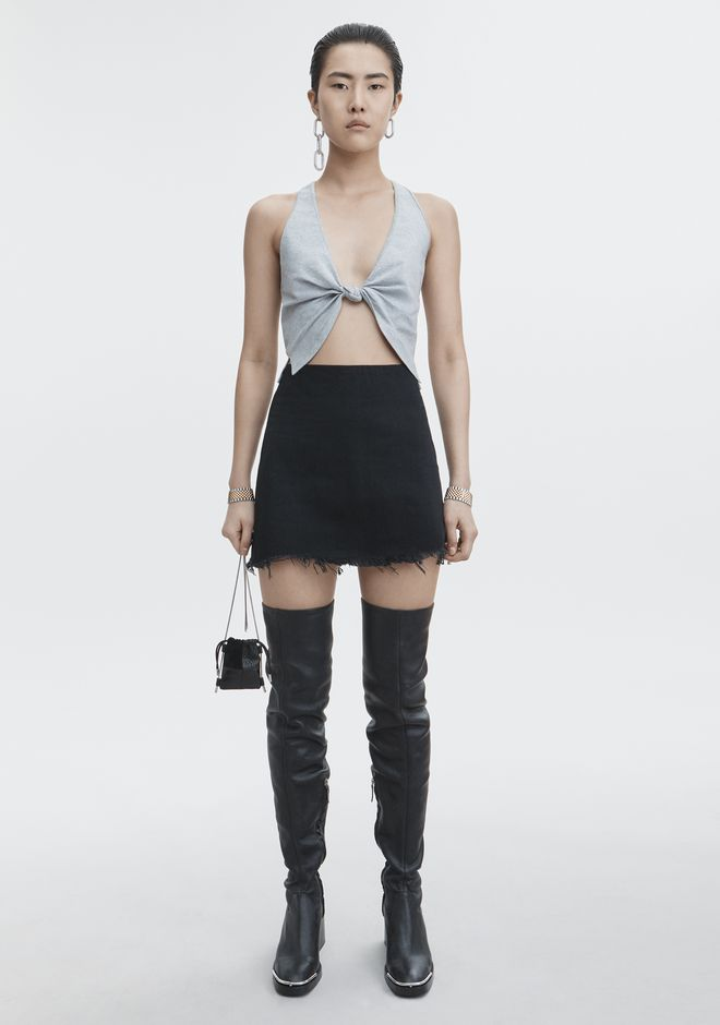 ALEXANDER WANG ZIP MINI SKIRT DENIM Adult 12_n_f