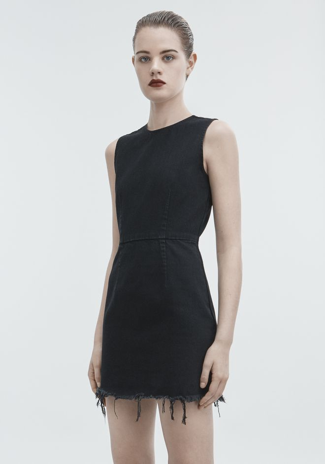 ALEXANDER WANG ZIP DRESS DENIM Adult 12_n_d