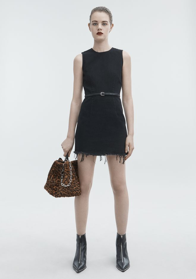 ALEXANDER WANG ZIP DRESS DENIM Adult 12_n_f