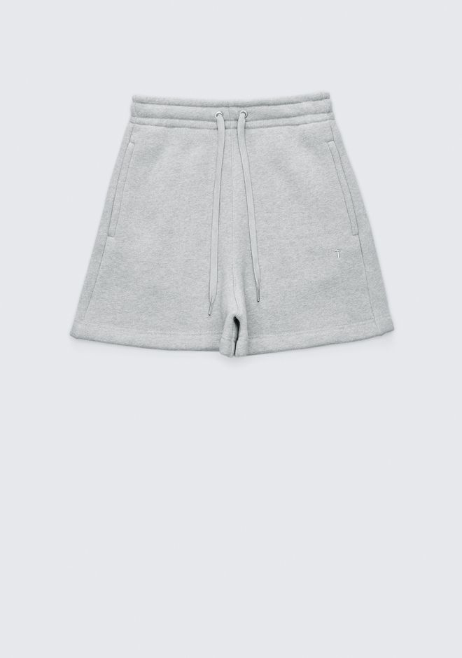 T by ALEXANDER WANG EXCLUSIVE DENSE FLEECE SHORTS SHORTS Adult 12_n_f