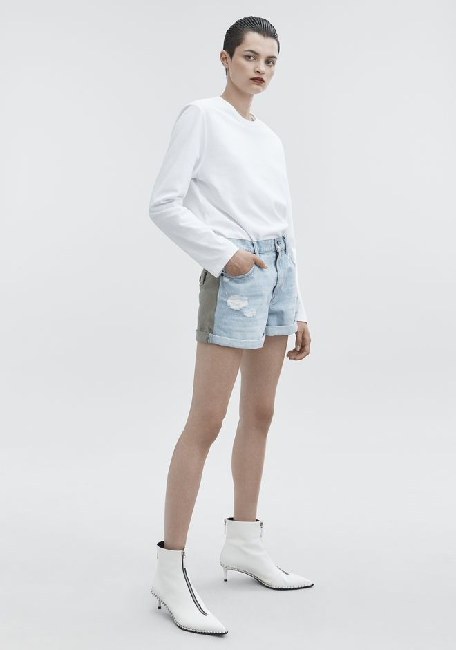 ALEXANDER WANG denim-x-aw HIKE MIX SHORTS
