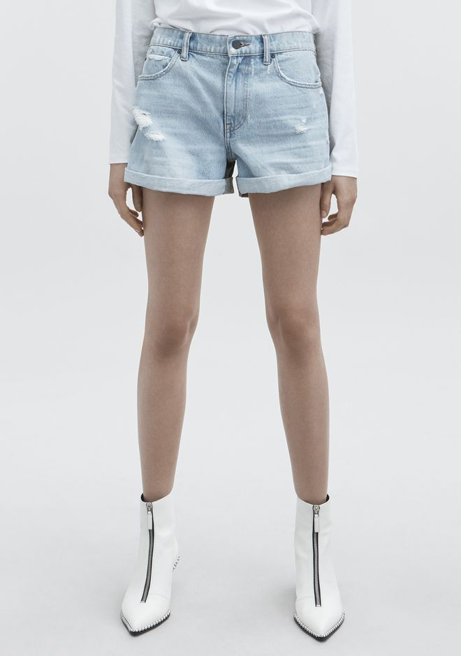 ALEXANDER WANG HIKE MIX SHORTS DENIM Adult 12_n_a