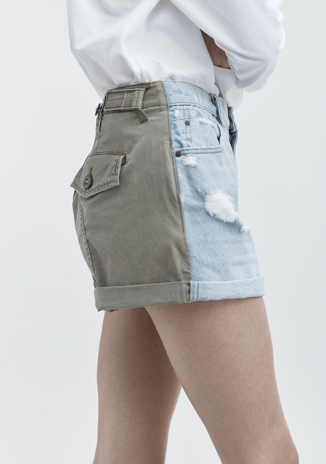 ALEXANDER WANG HIKE MIX SHORTS DENIM Adult 12_n_d