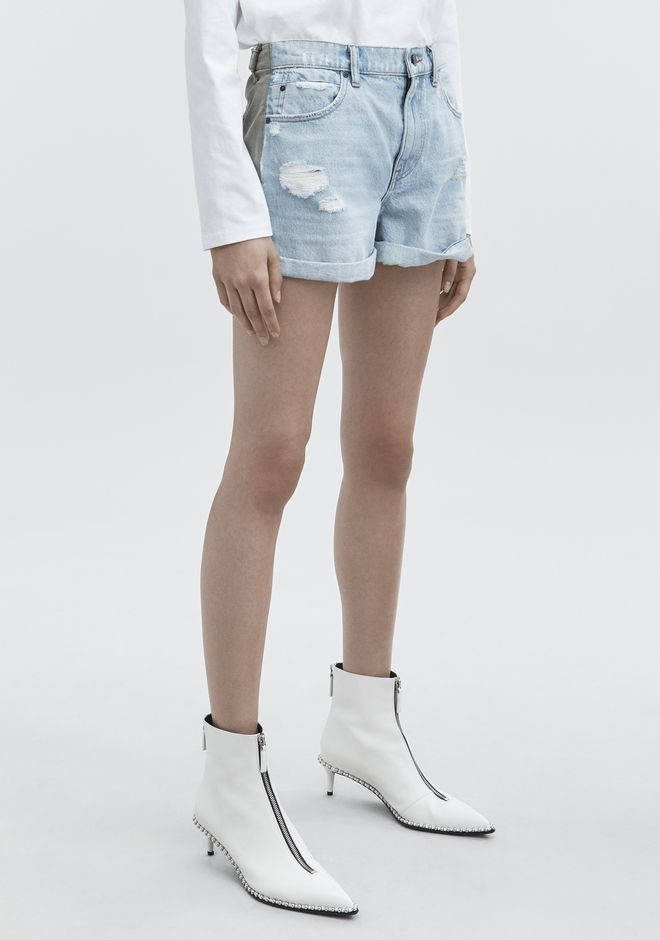 ALEXANDER WANG HIKE MIX SHORTS DENIM Adult 12_n_e