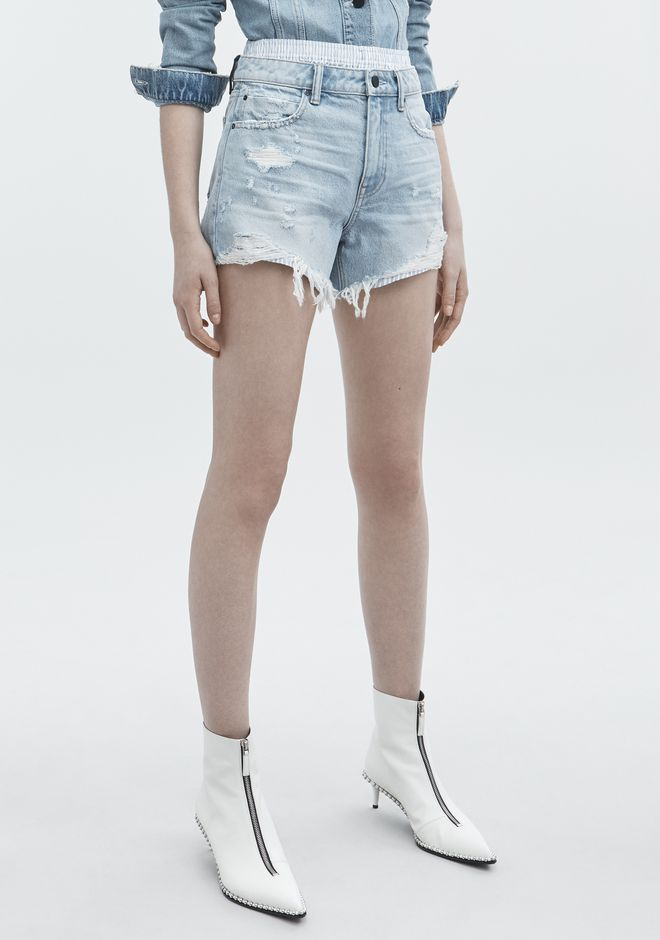 ALEXANDER WANG BITE MIX SHORTS DENIM Adult 12_n_e