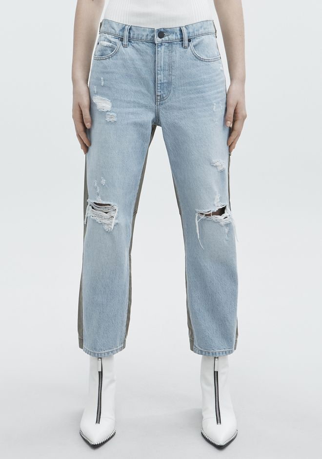 ALEXANDER WANG SLACK MIX JEAN DENIM Adult 12_n_a