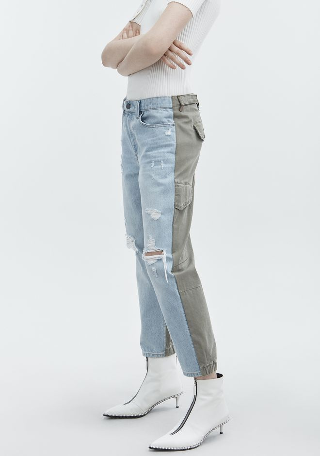 ALEXANDER WANG SLACK MIX JEAN DENIM Adult 12_n_d