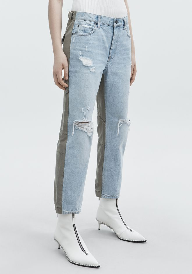 ALEXANDER WANG SLACK MIX JEAN DENIM Adult 12_n_e