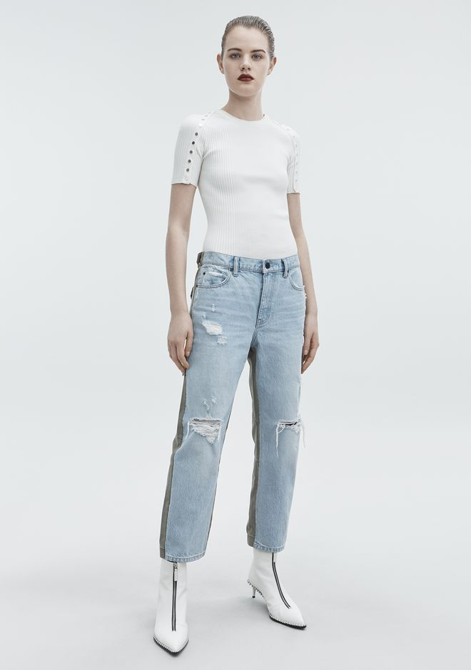 ALEXANDER WANG SLACK MIX JEAN DENIM Adult 12_n_f