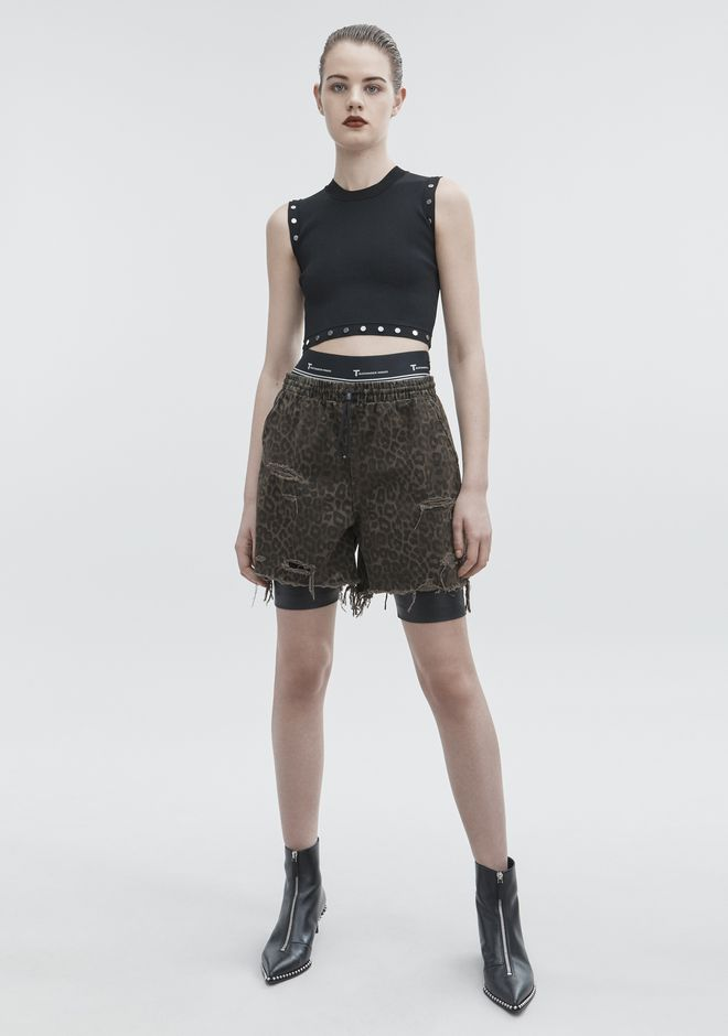 ALEXANDER WANG JOGGER SHORTS DENIM Adult 12_n_f
