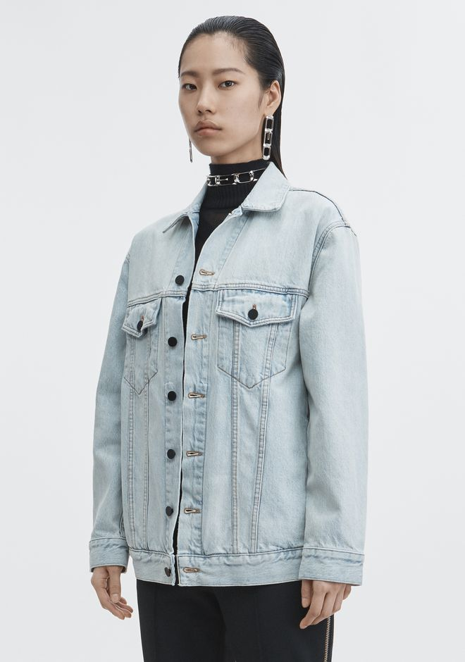 ALEXANDER WANG DAZE DENIM JACKET DENIM Adult 12_n_d