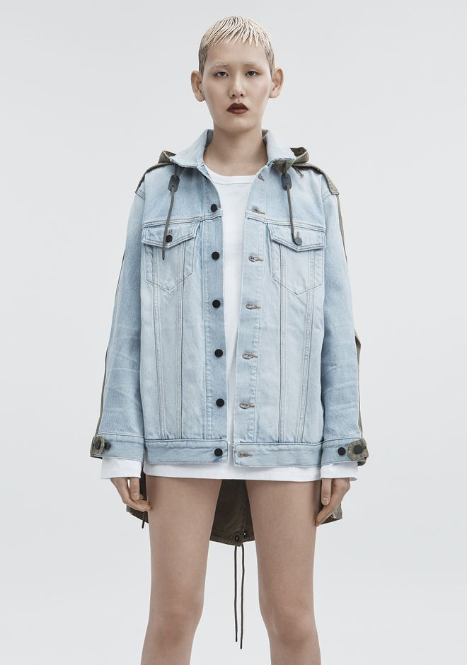 ALEXANDER WANG DAZE MIX JACKET DENIM Adult 12_n_a