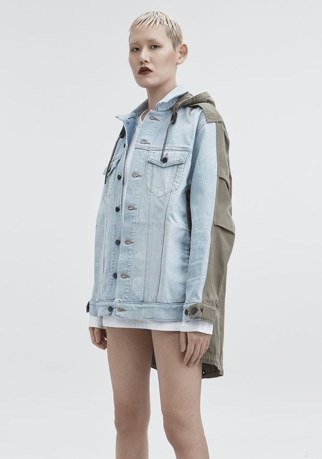 ALEXANDER WANG DAZE MIX JACKET DENIM Adult 12_n_d