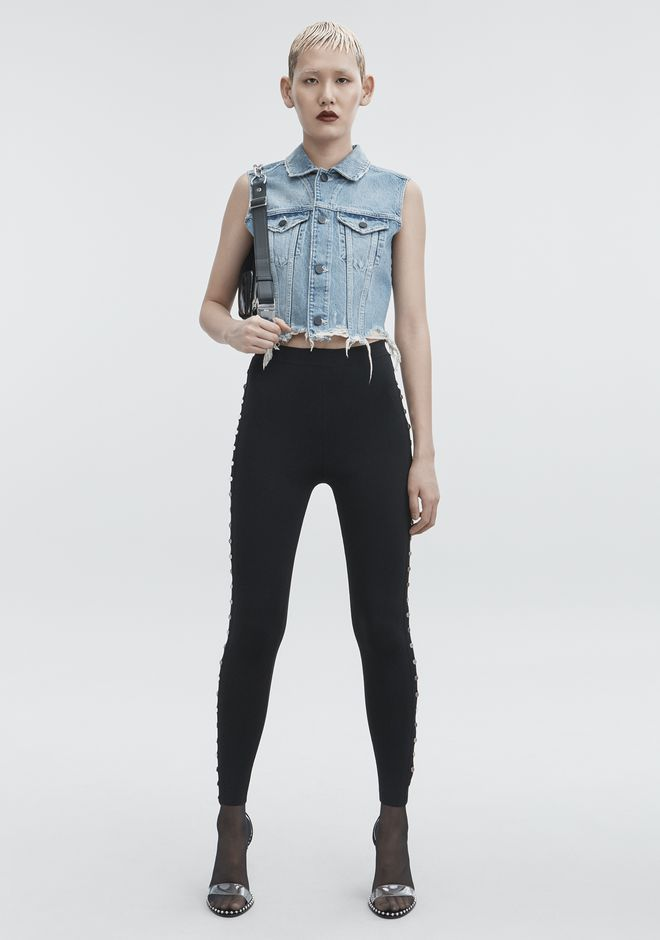 ALEXANDER WANG CROPPED DENIM VEST デニム Adult 12_n_f