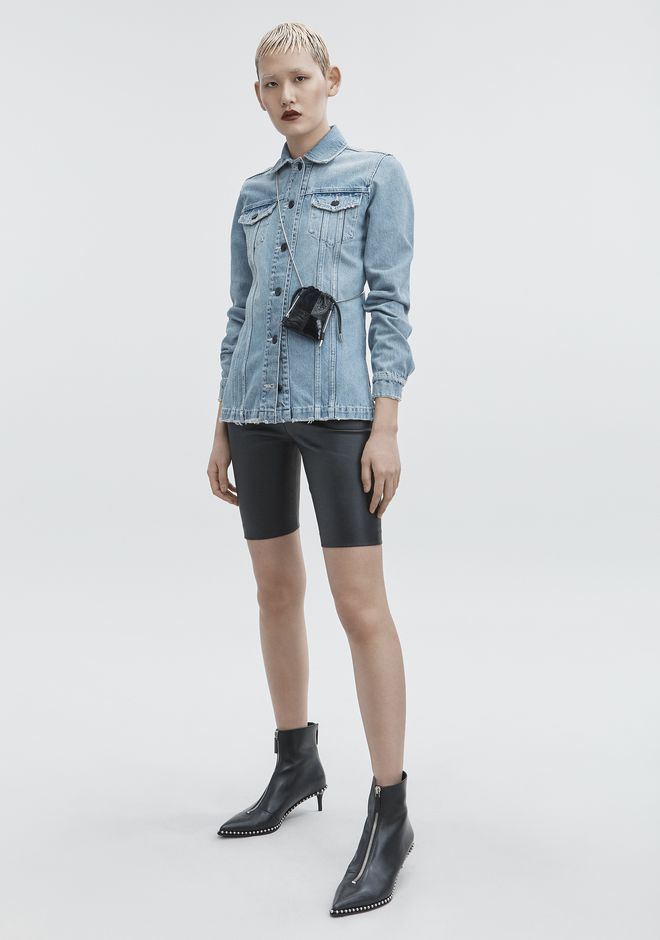 ALEXANDER WANG denim-x-aw DENIM SHIRT JACKET