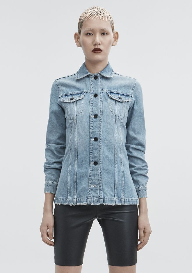 ALEXANDER WANG DENIM SHIRT JACKET JEAN Adult 12_n_a