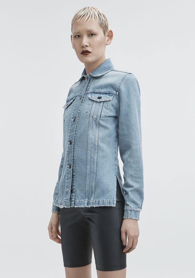 ALEXANDER WANG DENIM SHIRT JACKET JEAN Adult 12_n_d