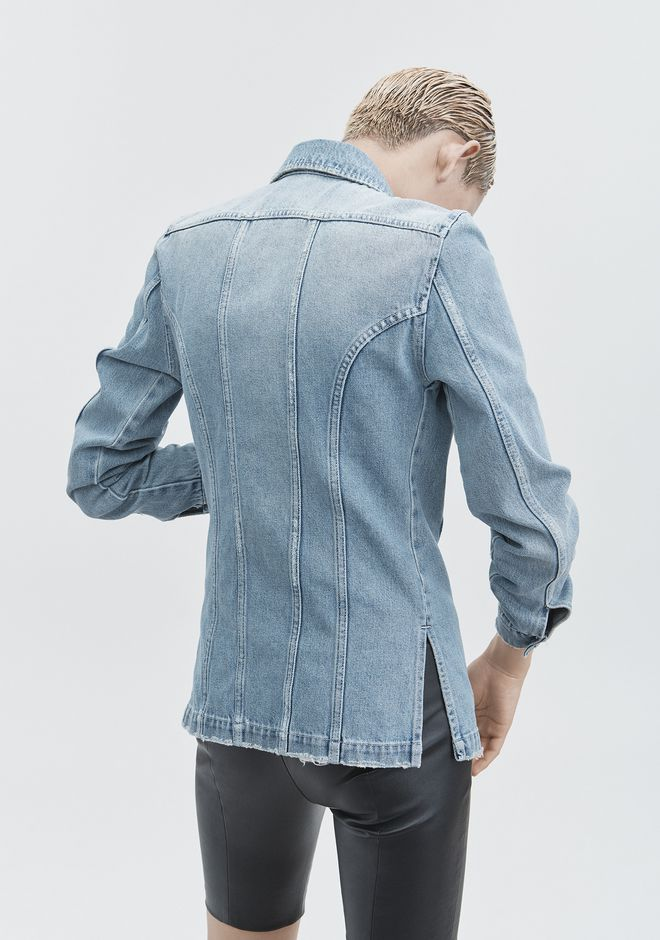ALEXANDER WANG DENIM SHIRT JACKET DENIM Adult 12_n_e