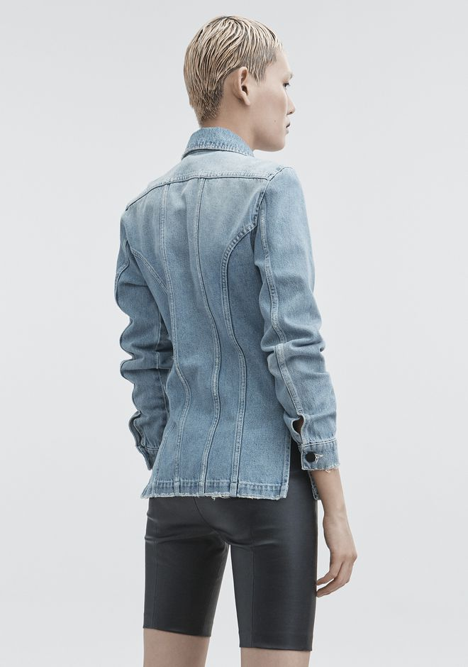 ALEXANDER WANG DENIM SHIRT JACKET JEAN Adult 12_n_r
