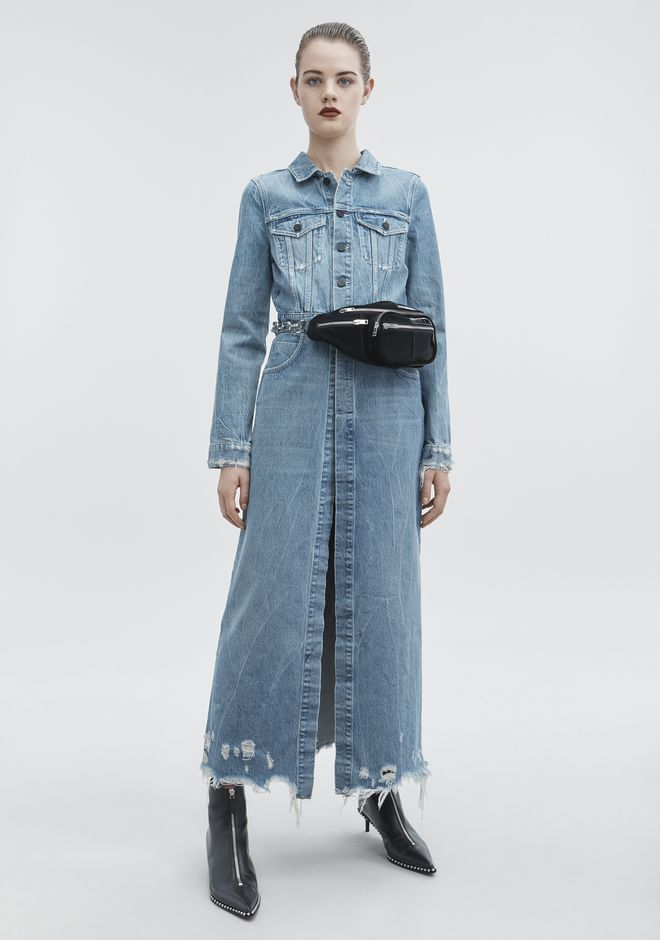 ALEXANDER WANG denim-x-aw DENIM TRENCH COAT