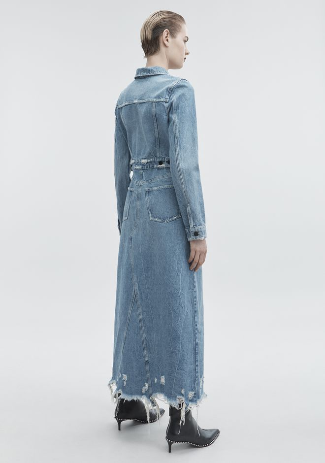 ALEXANDER WANG DENIM TRENCH COAT DENIM Adult 12_n_e