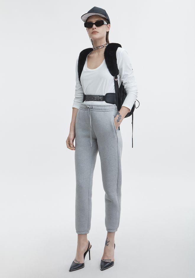 T by ALEXANDER WANG classic-bottoms EXCLUSIVE DENSE FLEECE PANTS