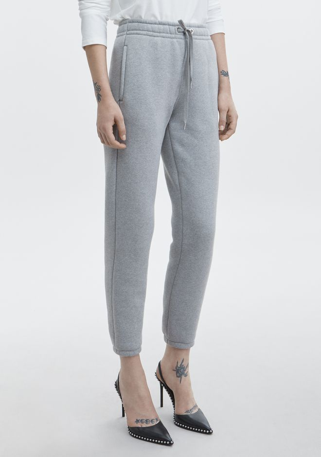 T by ALEXANDER WANG EXCLUSIVE DENSE FLEECE PANTS PANTS Adult 12_n_e