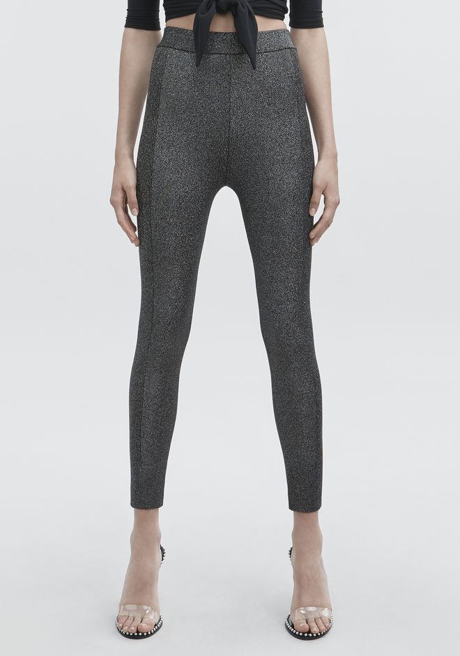 T by ALEXANDER WANG LUREX LEGGINGS PANTS Adult 12_n_a