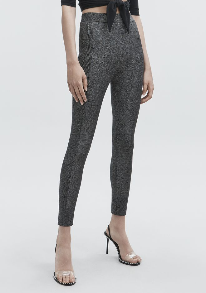 T by ALEXANDER WANG LUREX LEGGINGS PANTS Adult 12_n_e