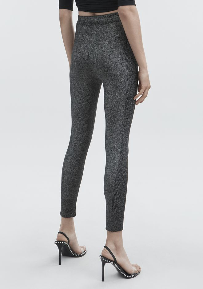 T by ALEXANDER WANG LUREX LEGGINGS PANTS Adult 12_n_r