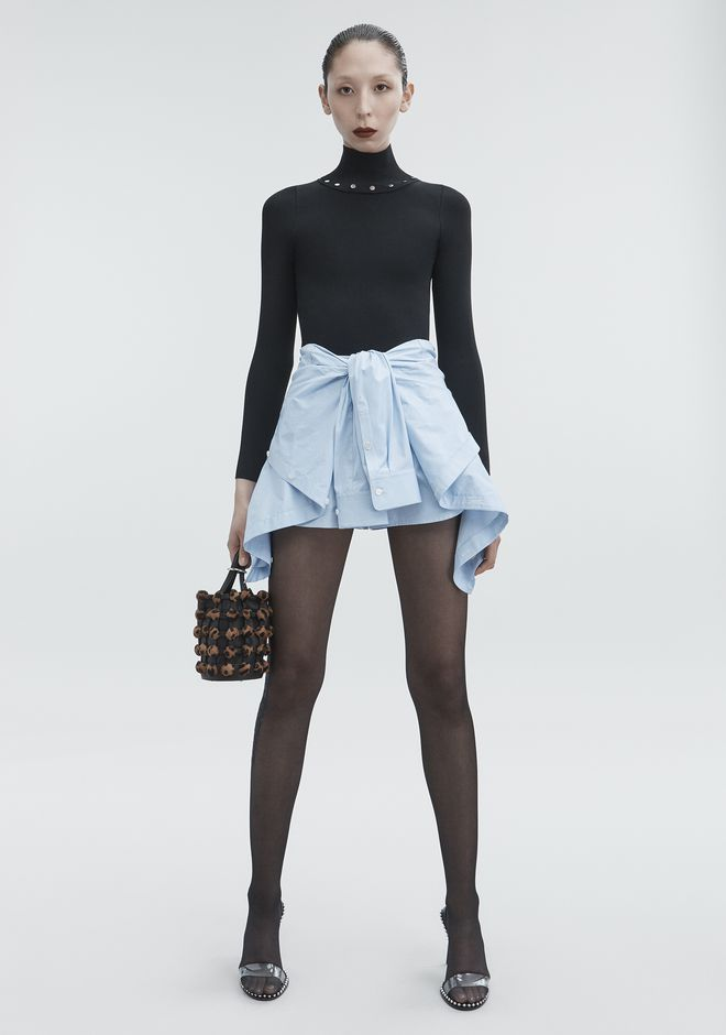 ALEXANDER WANG new-arrivals-ready-to-wear-woman TIE FRONT SKORT