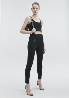 PANELED BODYCON PANTS