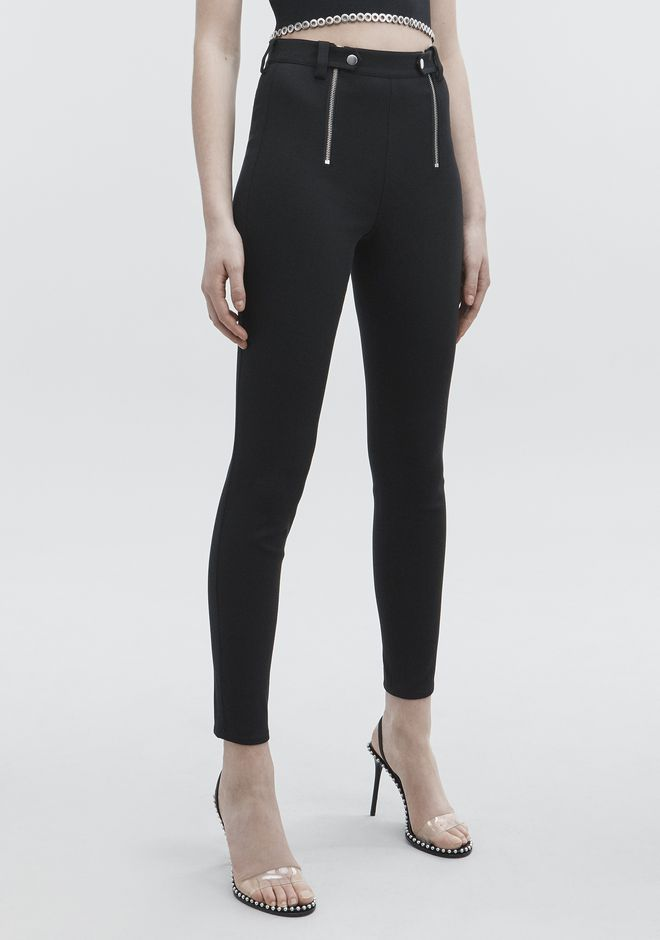 T by ALEXANDER WANG PANELED BODYCON PANTS PANTS Adult 12_n_e