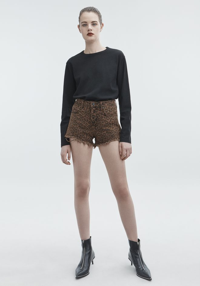 ALEXANDER WANG sale-denim BITE CUT-OFF DENIM SHORTS