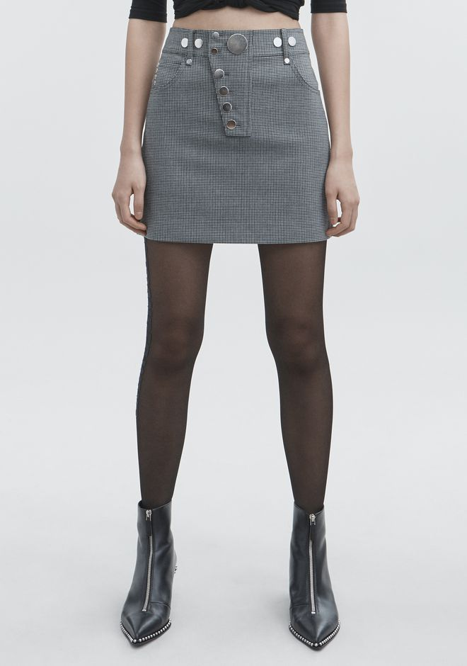 ALEXANDER WANG HOUNDSTOOTH MINI SKIRT SKIRT Adult 12_n_a