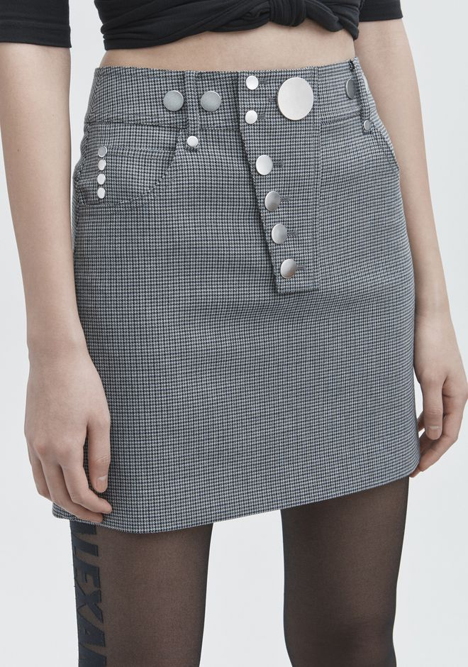 ALEXANDER WANG HOUNDSTOOTH MINI SKIRT SKIRT Adult 12_n_d