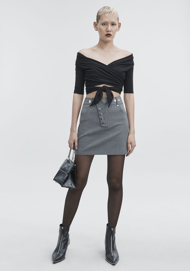 ALEXANDER WANG HOUNDSTOOTH MINI SKIRT SKIRT Adult 12_n_f