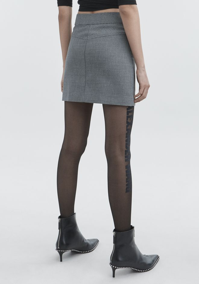 ALEXANDER WANG HOUNDSTOOTH MINI SKIRT SKIRT Adult 12_n_r