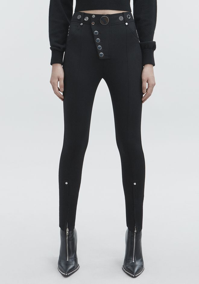 ALEXANDER WANG HIGH-WAISTED LEGGINGS  PANTS Adult 12_n_a