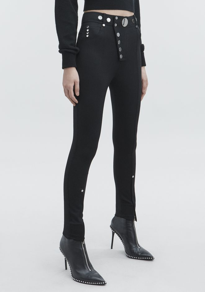 ALEXANDER WANG HIGH-WAISTED LEGGINGS  PANTS Adult 12_n_e