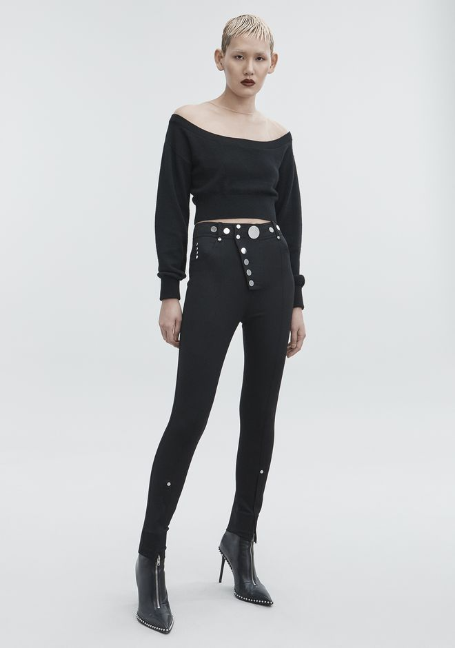 ALEXANDER WANG HIGH-WAISTED LEGGINGS  PANTS Adult 12_n_f
