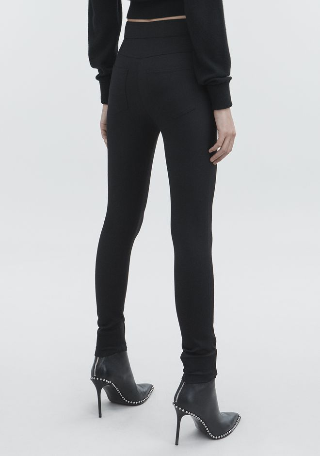 ALEXANDER WANG HIGH-WAISTED LEGGINGS  PANTS Adult 12_n_r