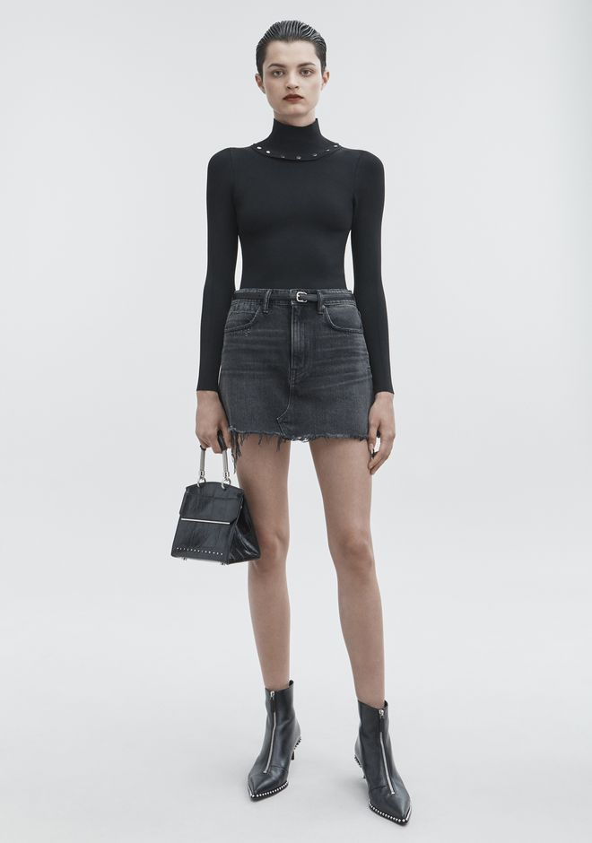 ALEXANDER WANG BITE SKIRT DENIM Adult 12_n_f