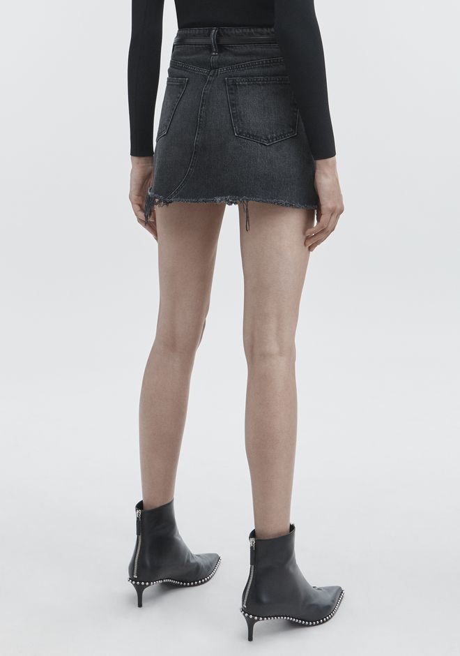 ALEXANDER WANG BITE SKIRT DENIM Adult 12_n_r